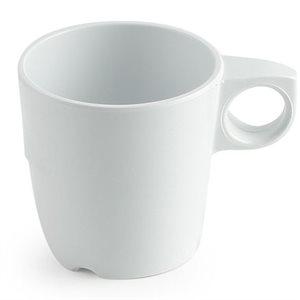 Tasse à café en mélamine, 285ml, blanche