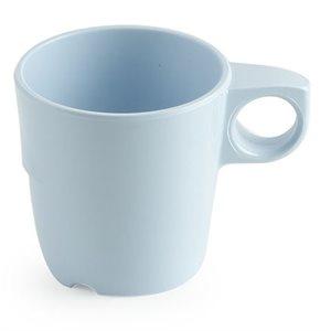 Tasse à café en mélamine, 285ml, bleue