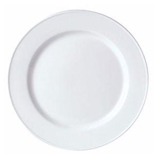 "Assiette, Motif ""Slimline"", Blanc, Diamètre 23 CM, ""Simplicity"""
