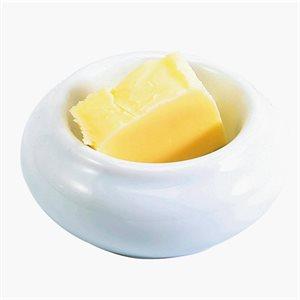Bol A Beurre En Porcelaine, Blanc, 1 Oz / 30 ML