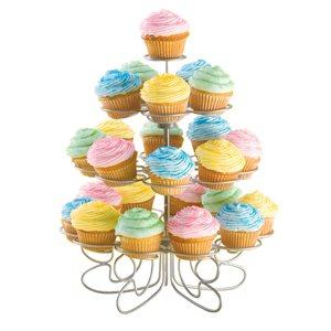 Présentoir A Dessert, 24 Créneaux/4 Étages, En Métal