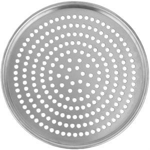 Assiette A Pizza En Aluminium, Perforée, 17 Po En Diamètre
