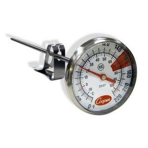 Thermomètre A Friture/Bonbon/Confiture, Avec Agrafe Ajustable