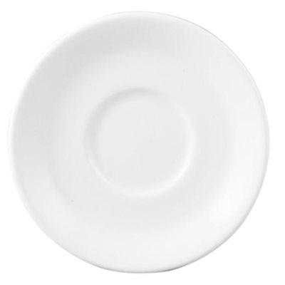 """Soucoupe, """"Classic White"""", Bord Roulé, Dia 14 CM, 36/Caisse"""