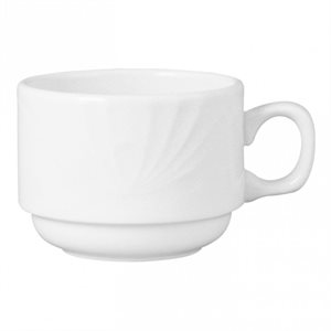 "Tasse Empilable, ""Lyric White"", 8 Oz / 237 ML, ""Dudson"", 36/Caisse"