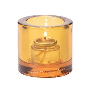 Lumignon/Bougie De Table En Verre Épais, Orange