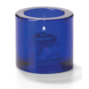 Lumignon/Bougie De Table En Verre Épais, Bleu