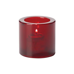 Lumignon/Bougie De Table En Verre Épais, Rouge Rubis