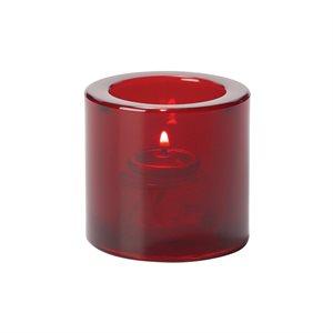 Lumignon/Bougie De Table En Verre Épais, Rouge Rubis