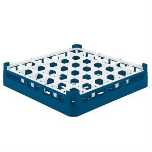 Égouttoir/Range Verres, 36 Cases (Petite Hauteur, 7CM), Bleu
