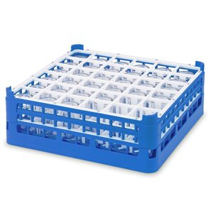 Égouttoir/Range Verres, 36 Cases (Hauteur 15CM), Bleu Royal