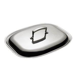 Couvercle Ovale Pour Plat A Rôtir, Acier Inoxydable, 36 X 29 Cm
