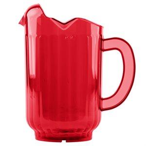 Pichet Traex® Tuffex™ Rouge Rubis, 1.8L en Polycarbonate