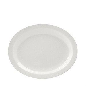 "Assiette Ovale, 11.5 Po, ""Porcelana"""