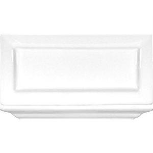 Assiette Rectangulaire En Porcelaine Blanche 10.25''X4.75''