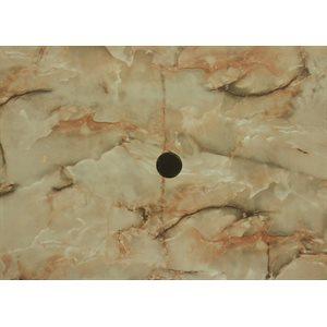 Dessus de table carré 32po Marbre Onyx