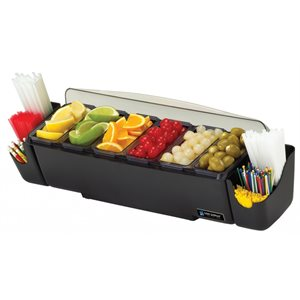 Buffet/Distributeur A Condiments&Garnitures, Avec Couvercle, 2.84 L