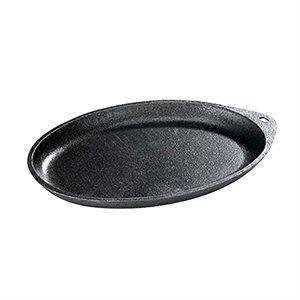 "Browne BG77 Cast Iron Oval Skillet, w/o Handle - 10 x 7 1/2"""