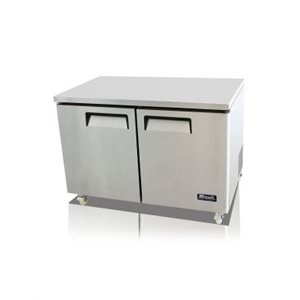 UNDER-COUNTER REFRIGERATOR - TWO SOLID DOORS, 12CU/FT (115V/60HZ)