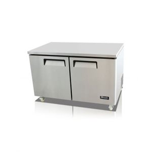UNDERCOUNTER REFRIGERATOR TWO SOLID DOORS, 17.9 CU/FT