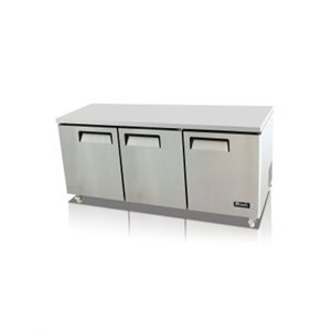 UNDER-COUNTER REFRIGERATOR THREE SOLID DOORS 115V/60Hz