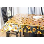 "Nappe de Table ""Tournesols Transparent"", 54 Po x 25 Mètres"
