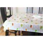 """Nappe de Table """"Dentelle Blanche avec Fruits"""", 54 Po x 25 Mètres"""