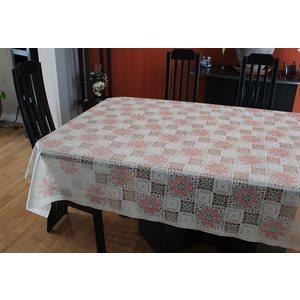 """Nappe de Table """"Fleurs"""", 54 Po x 25 Mètres"""