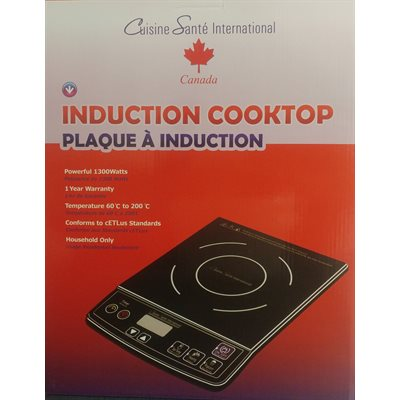 Cuiseur à Induction, 120 Volts, 1300 Watts, (60-200°C)
