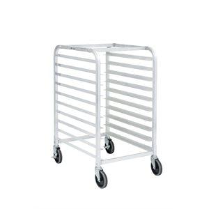 """Chariot en aluminium 10 tablettes, 18"""" de large avec dessus plat"""