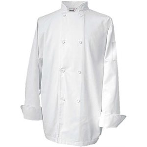 "Veste De Cuisinier, Large, Blanc, ""Economy Basic"""
