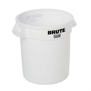 """Bac/Poubelle, Multifonction, 37.9 Litres, Signé """"Brute"""", Blanc"""
