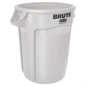 """Bac/Poubelle, Multifonction, 121.1 Litres, Signé """"Brute"""", White"""