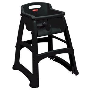 Chaise Haute (Enfant), Avec Roulette, Assemblée, Noir