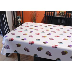 "Nappe de Table ""Cupcakes"", 54 Po x 20 Mètres"