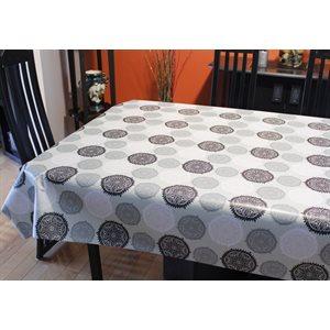 """Nappe de Table """"Ovale Noir"""", 54 Po x 20 Mètres"""