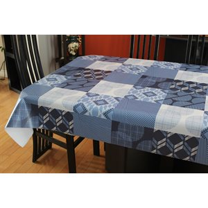 "Nappe de Table ""Quilt Blue"", 54 Po x 20 Mètres"
