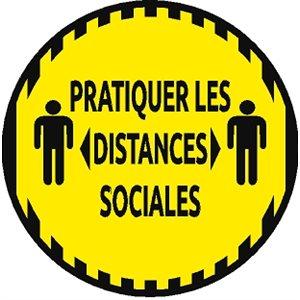 PANNEAU DE PLANCHER - DISTANCES SOCIALES (FR)