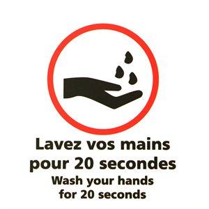 """Signe / Pictogramme 15cm """"Lavez vos mains"""""""