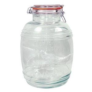 Pot (Jarre) De Stockage En Verre, Couvercle A Serrage, 4 L