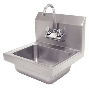 Hand Sink (With Faucet), Wall Mount, Stainless Steel