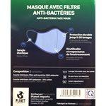 Masque Facial, 65/35 (POLY/COTON) GRIS