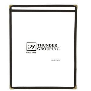 Couverture Menu 1 Panneau 21.5 x 28cm Noir Simili Cuir