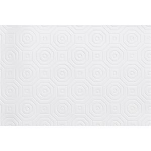 "Dessus de table ""Pad Hexagonal White"", 54 Po x 10 Mètres"