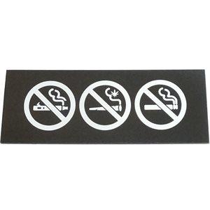 "Pictogramme ""ne pas fumer / vapoter"" Noir"