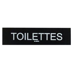 """Enseigne """"Toilettes"""" 5 x 20cm, Noir"""