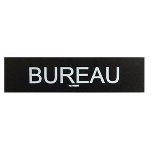 Signe ''Bureau'' 5 x 20cm, Noir