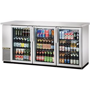 Réfrigérateur A 3 Portes Pivotantes, Acier Inoxydable, 1.85M