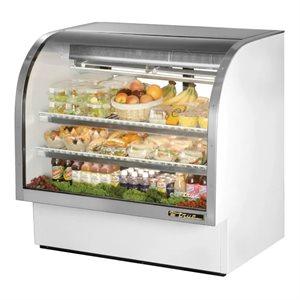 Cabinet De Service, Réfrigéré, Acier Inoxydable, Blanc, 48 Po