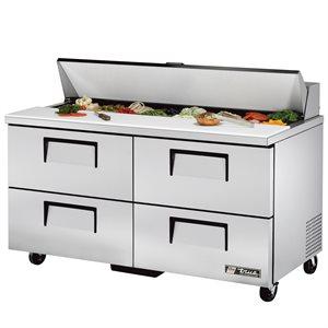 Table De Préparation Réfrigérée, 1 Porte/4 Tiroirs/16 Cabinets